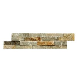 Brickstone Beige Kwartsiet Natuursteen Steenstrips 1. Keuz in 55x15 cm