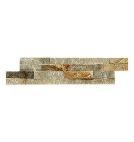 Brickstone Beige Quarzit Naturstein Verblender 1. Wahl in 55x15 cm