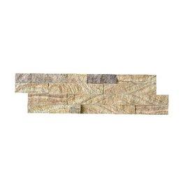 Briques mur de pierre Bronce Gold 1. Choice dans 55x15 cm