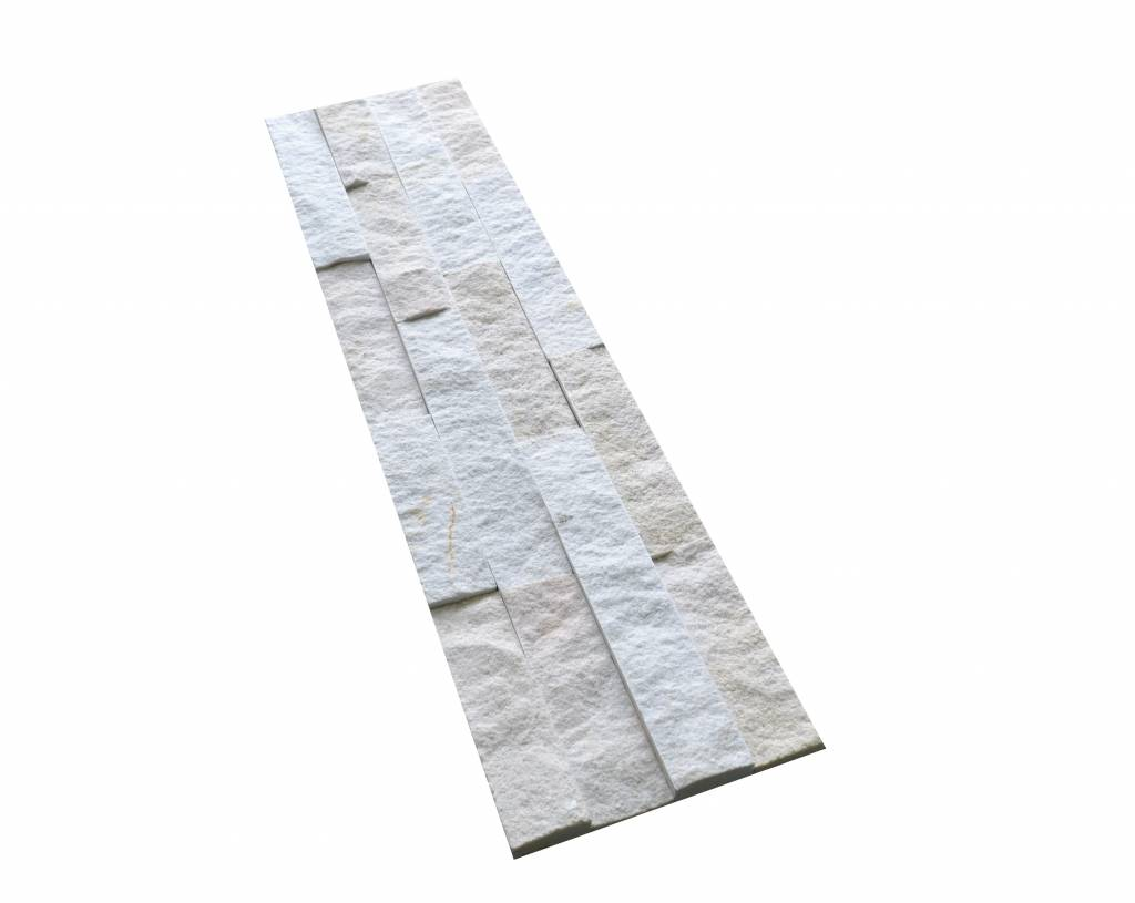 Wall bricks stone panels Neapel White