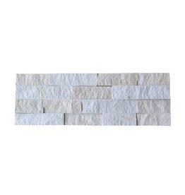 Briques mur de pierre Neapel White 1. Choice dans 55x15 cm