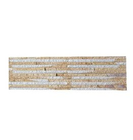 Briques mur de pierre Sand Creme 1. Choice dans 55x15 cm
