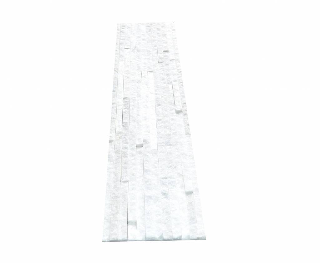 White Slim Naturstein Verblender Wandverblender