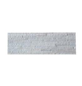 White Slim Naturstein Verblender 1. Wahl in 55x15 cm
