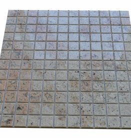 Ivory Brown Granit mosaic tiles 1. Choice in 30x30 cm