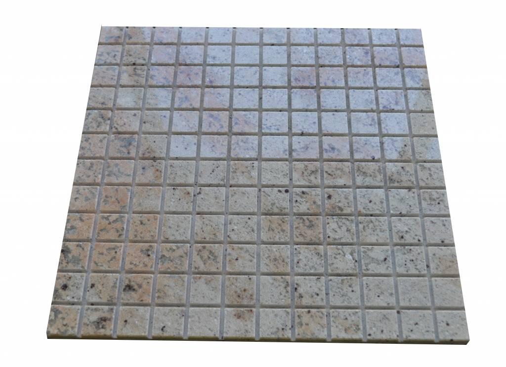 Ivory Brown Granit Mosaikfliesen