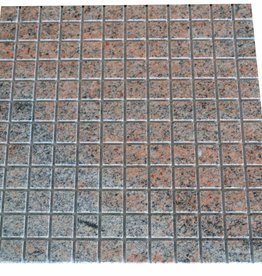 Multicolor Red Granit mosaic tiles 1. Choice in 30x30 cm