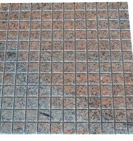 Multicolor Red Granit mozaiki 1 wybór w 30x30x1 cm