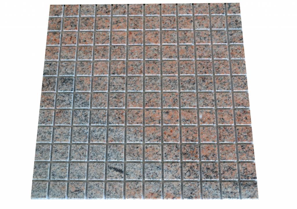 Multicolor Red Granit mozaïek tegels