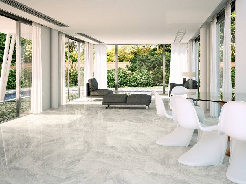 Marble Light Grey Floor Tiles