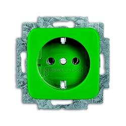 BUSCH-JAEGER Wandcontactdoos ra KV centraalplaat groen inbouw SI 20 EUCKS-13-212