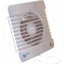 Solar Plus 100mvl badkamerventilator met trekkoord schakelaar