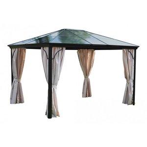 Leco Leco Profi-Paviljoen, frame antraciet, met kunstof dak - Grijs/bruin