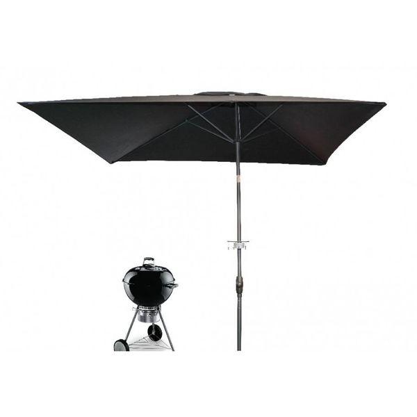 Barbecue parasol Grillmeister 200x250 cm zwart
