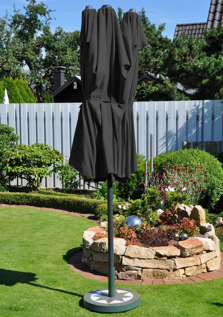 leco ovale parasol kleur antraciet. Black Bedroom Furniture Sets. Home Design Ideas