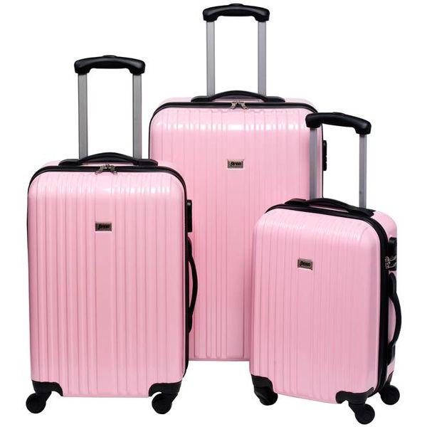 Trolleyset ABS pastel pink (3 dlg)