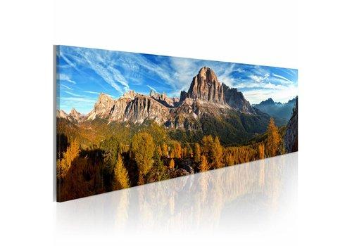 Schilderij berg, landschap - panorama 120x40cm