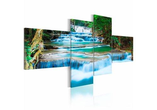 Schilderij Waterval in het Bos
