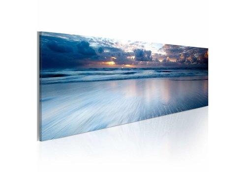 Schilderij - Eindeloze oceaan 120x40cm