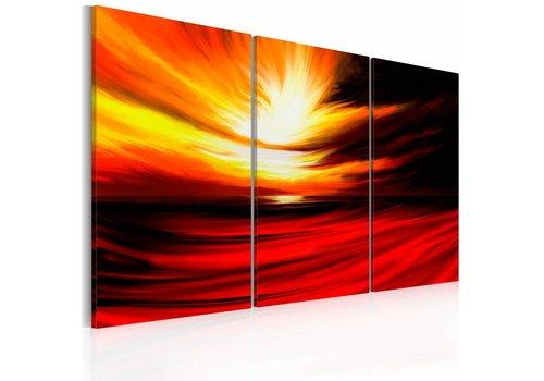 Schilderij - Vurige lucht
