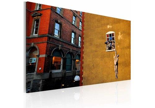 Schilderij - The lover (Banksy)