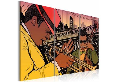 Schilderij - New York City, the capital of jazz