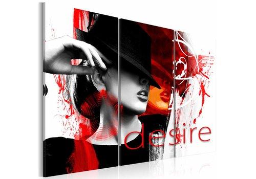 Schilderij - Fire of desire - rood