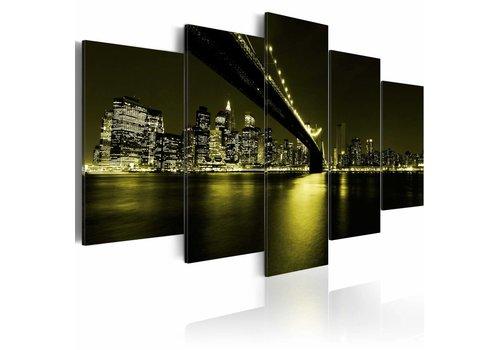 Schilderij - Onvergetelijke nacht in New York City