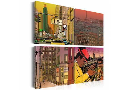 Schilderij - Misschien Parijs, misschien New York ...