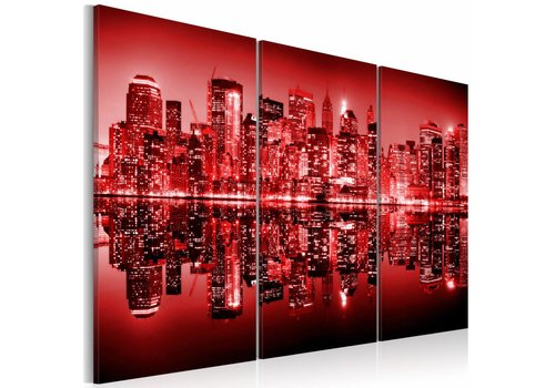 Schilderij - New York- Big Apple in rood