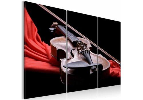Schilderij - Geluid van de viool
