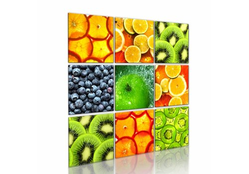 Schilderij - Fruit. Veel fruit