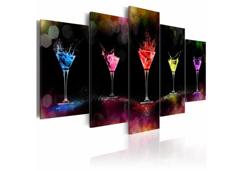 Schilderij - Martini, cocktail