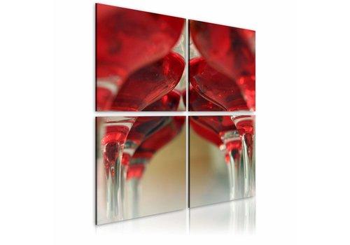 Schilderij - Summer wine, wijn