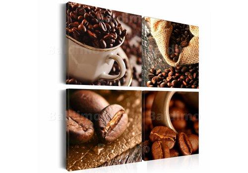 Schilderij - Koffie Collage