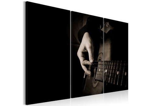Schilderij - De gitarist