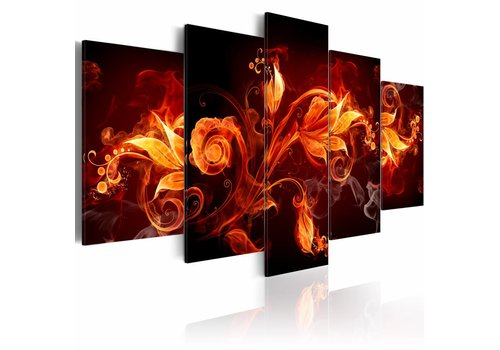 Schilderij - Vlammende bloem