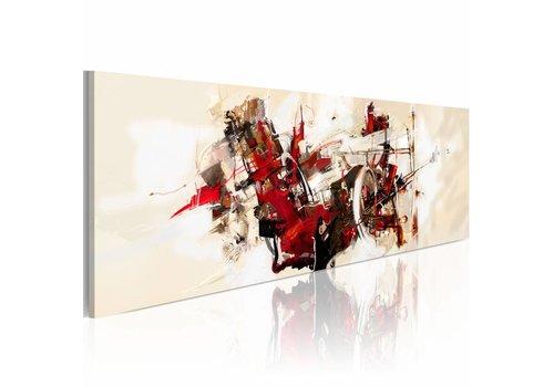 Schilderij - Pandemonium  120x40cm