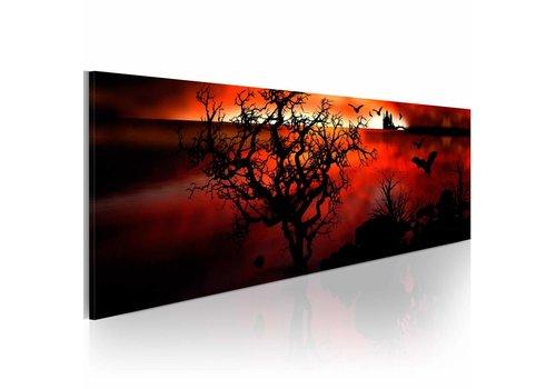 Schilderij - Het moeras  120x40cm