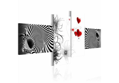 Schilderij - Liefde turbulentie