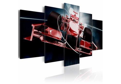 Schilderij - Formule auto