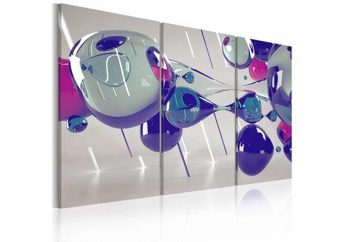 Schilderij - Glasblazen in 3 delen