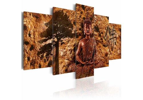 Schilderij - Stilte en bezinning, Boeddha