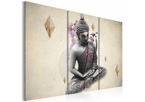 Schilderij - Boeddha, vanaf de top