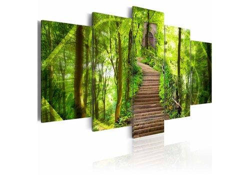 Schilderij - Ingang tot het paradijs, brug