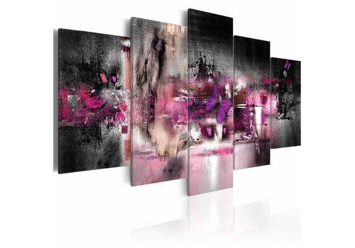 Schilderij - Vlinder en abstractie