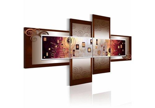 Schilderij - Klimt - abstract