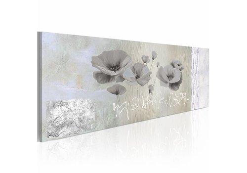Schilderij - Klaprozen in winterslaap 120x40cm