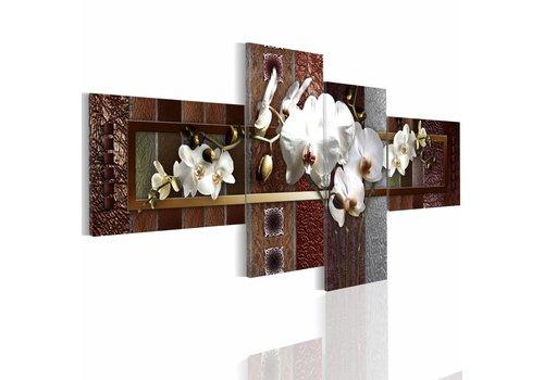 Schilderij - Elegante Orchidee