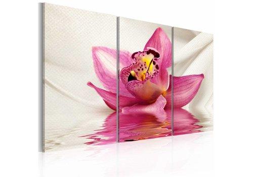 Schilderij - Orchidee op water
